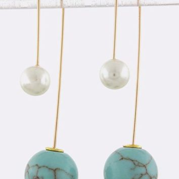 Double-Sided Dangle Earrings