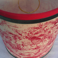 Lamp Shade Drum Santa Claus Red Christmas Forest Green Velvet,  Red Grosgrain Ribbon Trim Clip Top Noel
