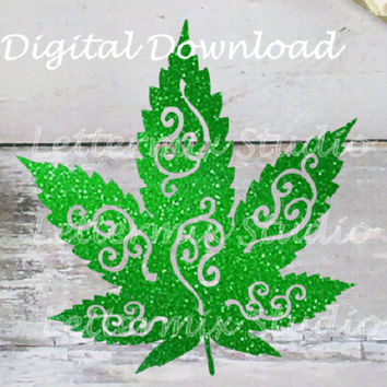 Marijuana digital SVG cutting file, silhouette, digital download, cannabis leaf, craft cutting file, jpeg file