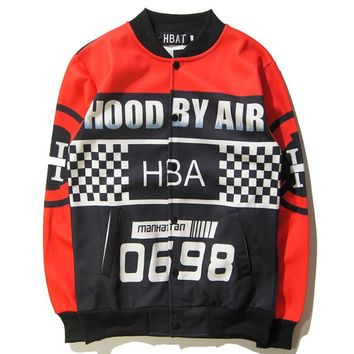 Hip-hop autumn and winter tide male space cotton stand-dimensional 3D printing star couple models jacket jacket baseball clothing tide