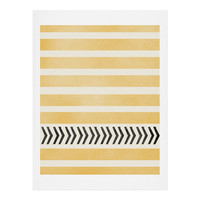 Allyson Johnson Yellow Stripes And Arrows Art Print