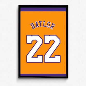 Elgin Baylor Number 22 Jersey