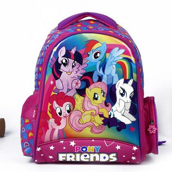 High Quality kids cartoon my little pony school bags girls lovely backpack schoolbag for children mochila escolar infantil