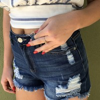 Mystery With In Short- Denim