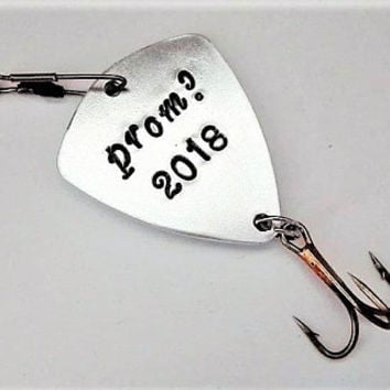 Be my catch to prom, personalized fishing lure boyfriend gift for him fisherman gift for man prom proposal promposal high school prom hook