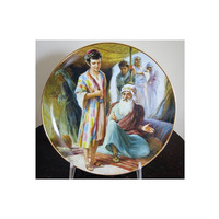 Old Testament Bible Story Plate Limited Edition Numbered Garri Katz dated 1987 Joseph's Coat RECO