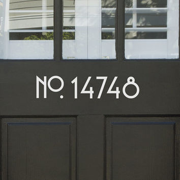 Vinyl House Door or Wall Numbers Sans Serif front door sticker house number address house identification outdoor vinyl apartment