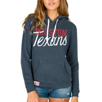 Houston Texans Junk Food Women's Sunday Pullover Hoodie – Navy Blue