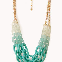 Bold Ombré Layered Chain Necklace