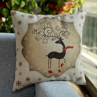 New Year Home Decor Comfortable Christmas Gifts Cushion Pillow Cover [9647083791]