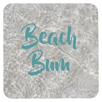 Boardwalk beach bum coaster