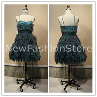 Sweetheart Neckline A Line Beading Short Mini Prom Party Dress