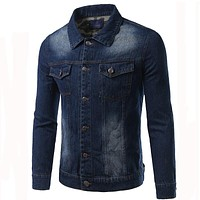 New Arrival Denim Jacket Men Fashion Casual Slim Single Breasted Men Jacket Three Colors
