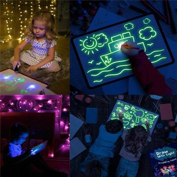 [BIG SALE] Fluorescent Luminous Board Toy Draw With Light-Fun And Developing Toy Big Pack