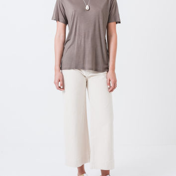 Taupe Loose Tee