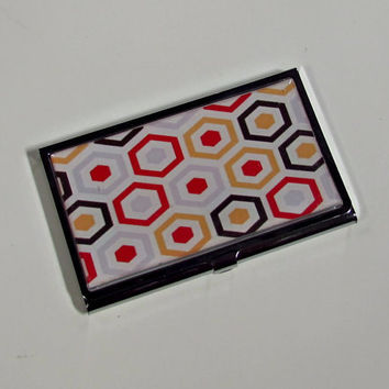 Business Card Case Colorful Honeycomb