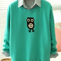 Cute Sweater With Owl Pattern on Luulla
