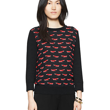 Kate Spade On The Sly Sweater Black