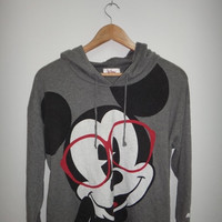 30% New Year Sale Vintage Mickey Disney Hoodie Sweatshirt Grey Cute Women's Clothing