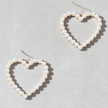 LA Hearts Pearl Heart Earrings at PacSun.com