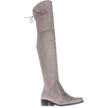 Charles by Charles David Gunter Over The Knee Back Bow Boots, Grey, 7 US