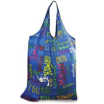 """""""Island Doodles"""" Foldable Tote"""