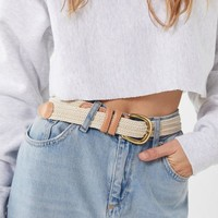 Natural Woven Belt | Urban Outfitters