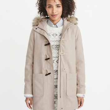 Womens Wool-Blend Duffle Coat | Womens New Arrivals | Abercrombie.com