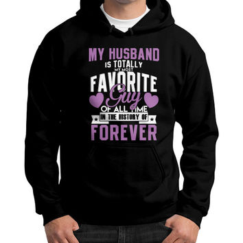 My husband is the best Gildan Hoodie (on man)
