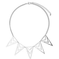 Cut out triangle necklace - Fashion Jewelry  - Accessories