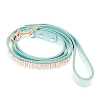 Aqua Blue Diamante Dog Lead | Chihuahua Clothes and Accessories at the Famous Chihuahua Store!