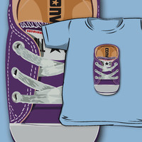 Casual purple converse all star shoes Kids and Baby Tee Tshirt Clothes by pointsalestore