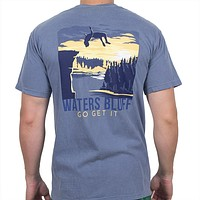 Flippin' Out Tee Shirt in Blue Jean by Waters Bluff
