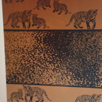 """Tiger Land"" 40x70 Egyptian Cotton Beach Towel"