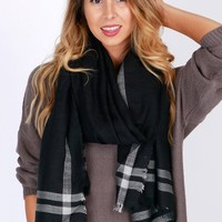 Fall For It Scarf Black