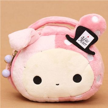 pink Sentimental Circus rabbit plush cosmetic case - Wallets - Accessories