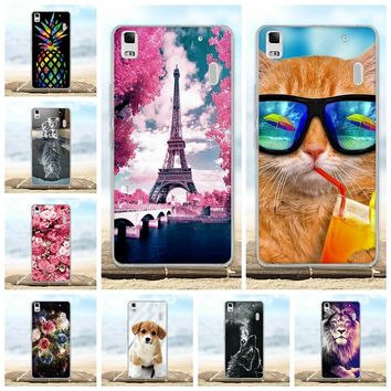 For Lenovo A7000 Case Soft Silicone TPU Funda Coque For Lenovo K3 Note Case 3D Animal Cute Bags Shell K3Note A 7000 Phone Cases