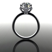 Forever Brilliant Moissanite and Diamond Engagement Ring 3.08 CTW