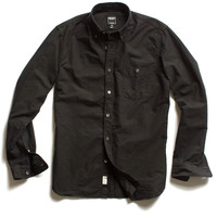 Selvedge Oxford Shirt in Black