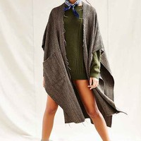 Urban Renewal Remade Menswear Ruana Open Poncho