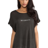 Wildfox Couture Tiny Mermaid Boy Tee in Dirty Black from REVOLVEclothing.com