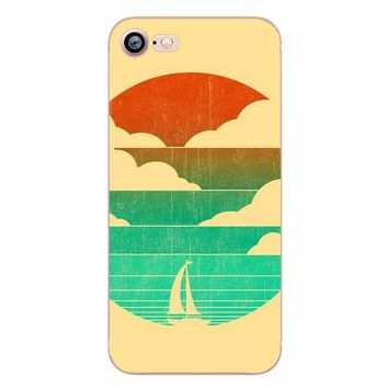 Ocean Sea Wave Mobile Phone Back Case Cover For Apple Iphone 5 6 Plus 7 8 X 10