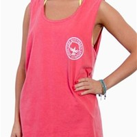 Southern Shirt Company Signature Tank Top in Sunkist Coral