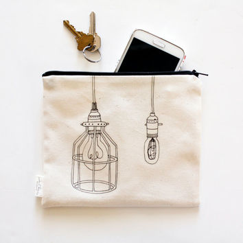 Utility Zipper Pouch Bag,  Industrial Cage Light,  Unisex, Zipper Organizer, Travel Bag, Purse Organizer, Men, Women, Kids,