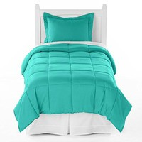 Ivy Union Premium Down Alternative Comforter Set Twin XL Extra Long / Twin (Turquoise)