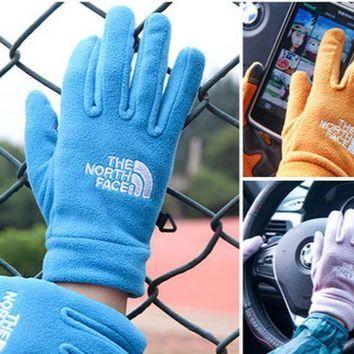 PEAPDQ7 Unisex The North Face Fleece Cycling Sports Touchable Gloves