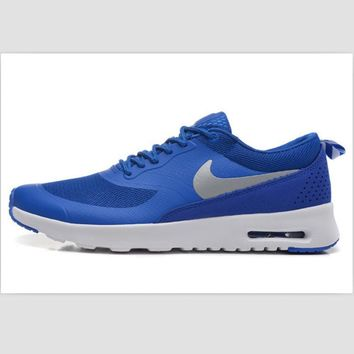 NIKE trend of fashion leisure sports shoes Sapphire blue silver