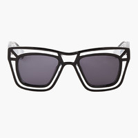CLEAR OUTLINE SKELETON SUNGLASSES