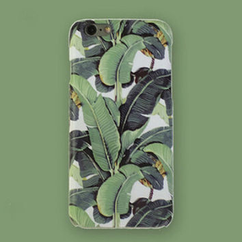 Non-slip Stiff Banana Leaf iPhone 7 7 Plus & iPhone 5s se & iPhone 6 6s Plus Case Personal Tailor Cover + Gift Box