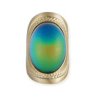 Wide Gold Mood Ring